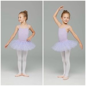 Ages 10-12 New Purple Leotard with Sparkly Skirt